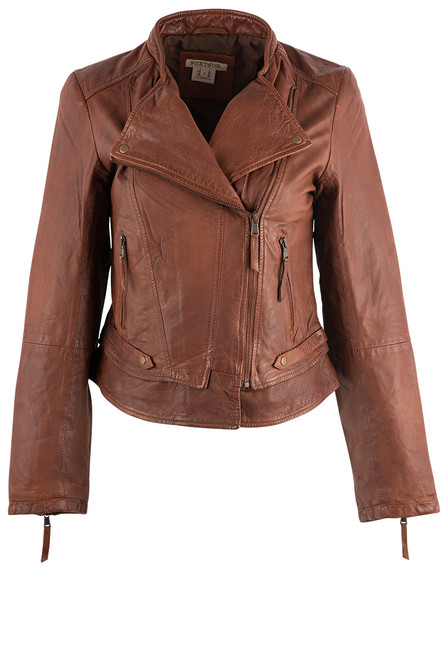 Stetson Women's Brown Motorcycle Jacket