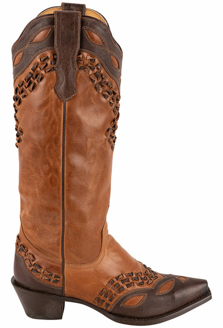 Stetson Alexa Burnished Tan Boots - Side