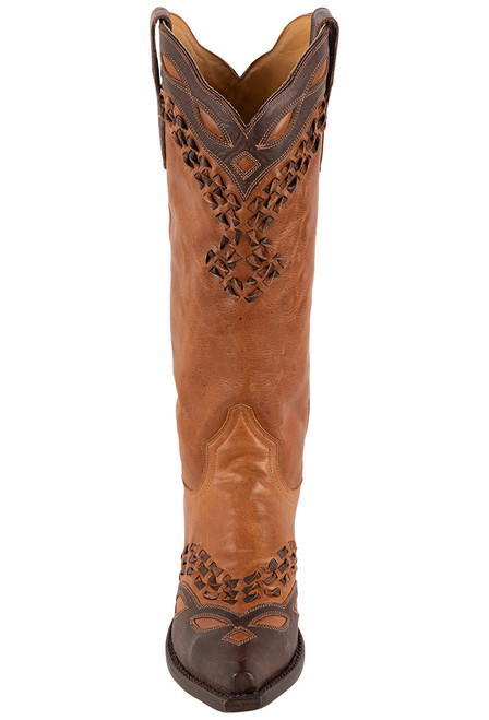 Stetson Alexa Burnished Tan Boots - Front