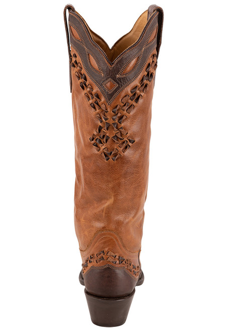 Stetson Alexa Burnished Tan Boots - Back