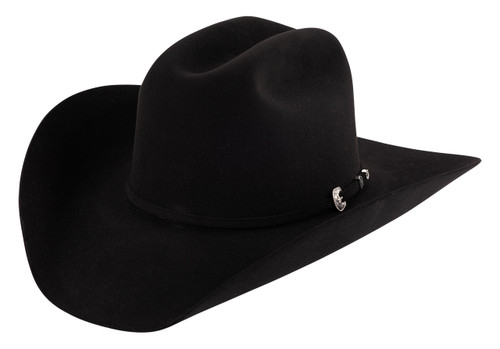 American Hat Co. Black 200X Felt Hat - Front
