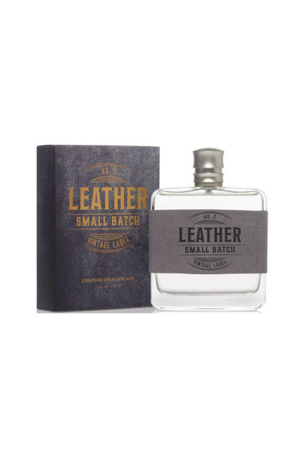 TRU Fragrance Leather No. 2 Small Batch Vintage Label Cologne - with box
