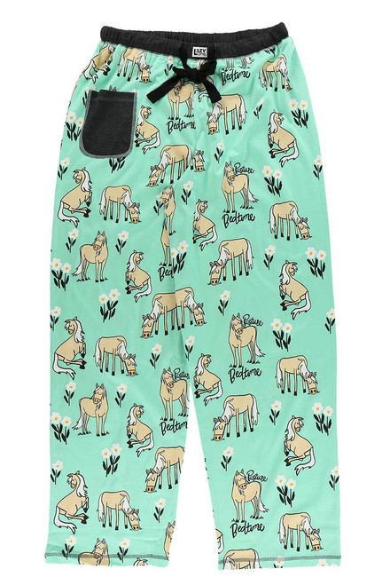 Lazy One Pasture Bedtime Horse Pajama Pants - Adult - Front