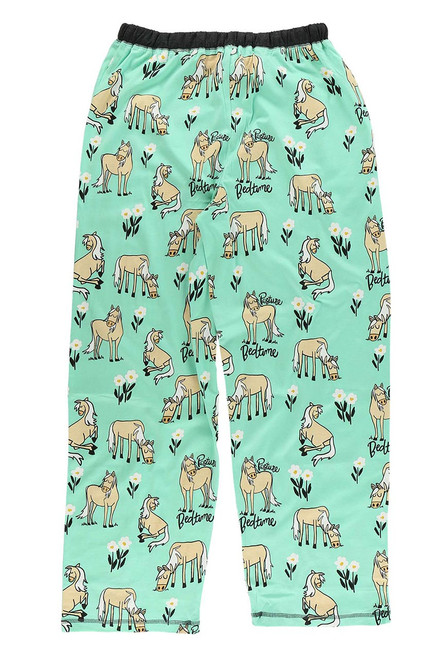 Lazy One Pasture Bedtime Horse Pajama Pants - Adult - Back