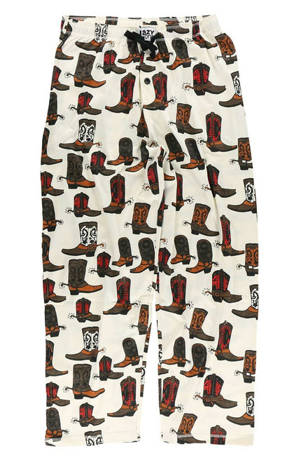 Lazy One Men's Boots Pajama  Pants  - Front
