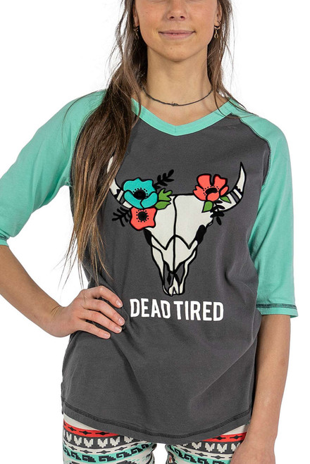 Lazy One Dead Tired Pajama Top