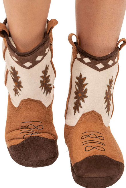 Lazy One Stampede Bootie Slippers - Front