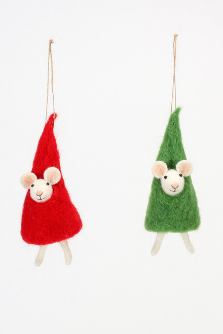 180 Gifts Mouse in Tree Christmas Ornament