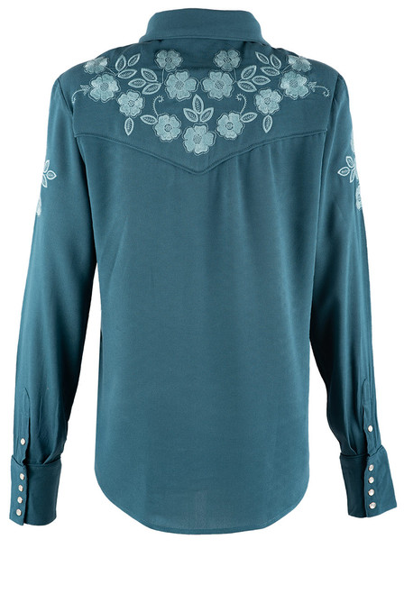 Stetson Apparel Crepe Western Button Up Blouse