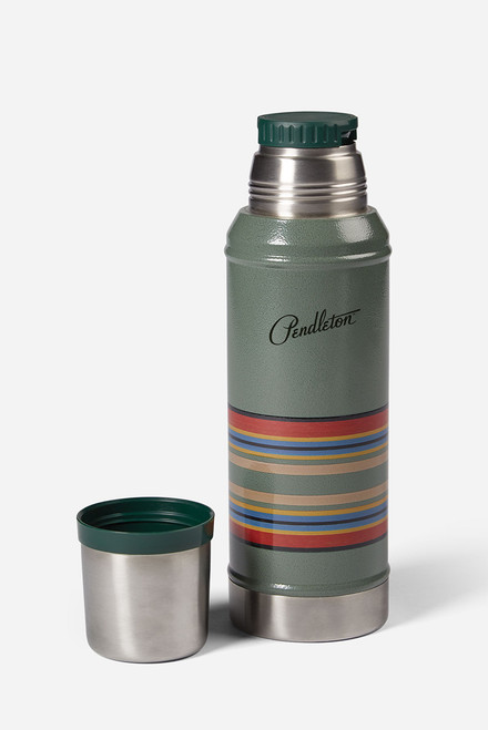 Pendleton Insulated Vacuum Bottle - Green - Open
