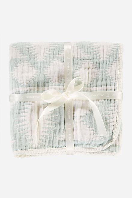 Falcon Cove Cotton Baby Blanket - Wrapped