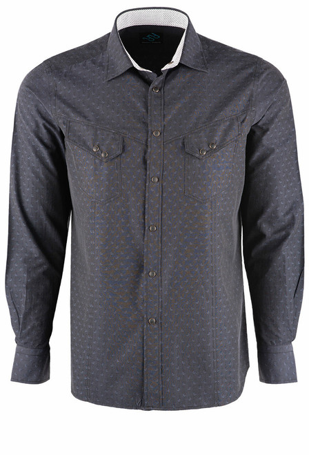 Pinto Ranch YY Collection Black Jett Snap Shirt - Front