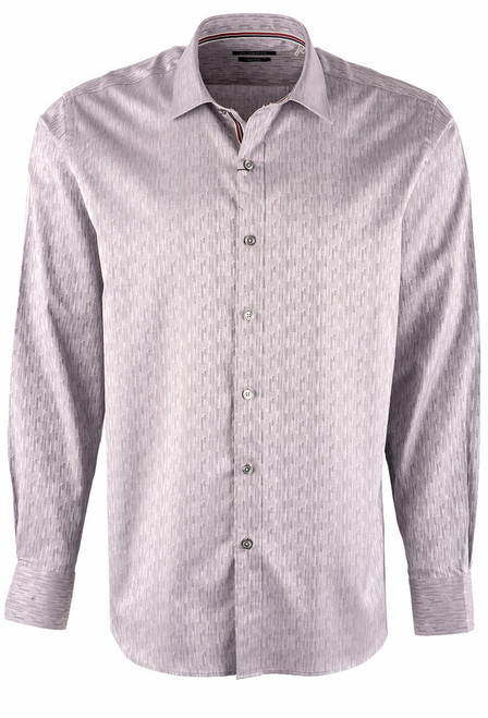 Bugatchi Chrome Tonal Abstract Shirt - Front
