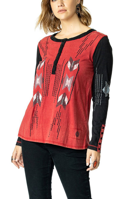 Double D Ranch Chimayo Weaver Top - Milo - Front