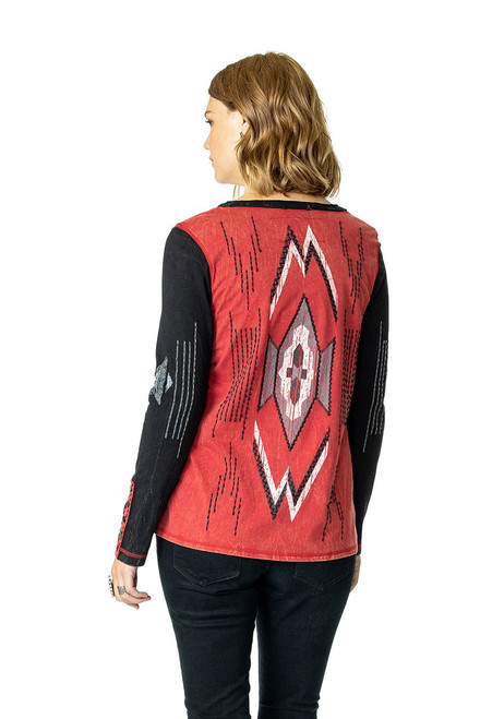 Double D Ranch Chimayo Weaver Top - Milo - Back