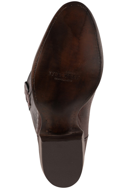 Lucchese Men's Black Cherry Red River Ostrich Leg Boots