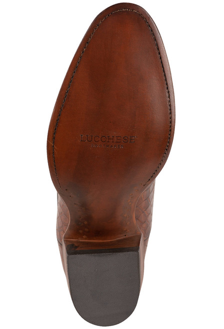 Lucchese Men's Antique Dark Brown Nile Belly Boots
