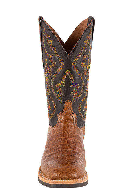 Lucchese Men's Antique Saddle Caiman Belly Rowdy Boots - Front