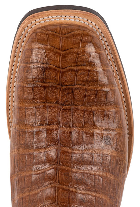 Lucchese Men's Antique Saddle Caiman Belly Rowdy Boots - Toe