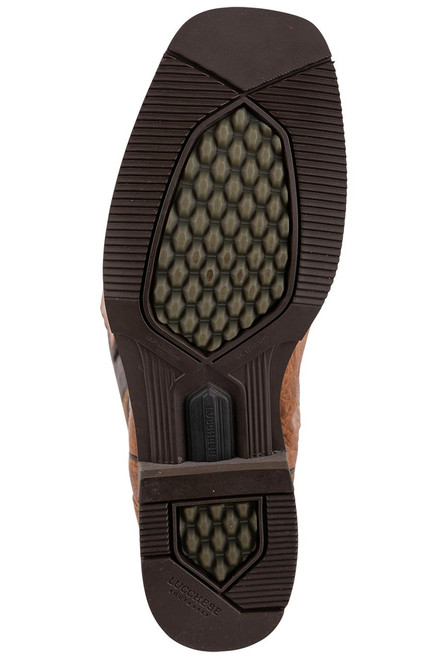 Lucchese Men's Antique Saddle Caiman Belly Rowdy Boots