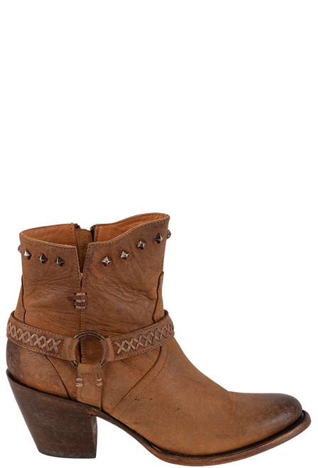 Lucchese Women's Ani Tan Cowhide Boots - Side