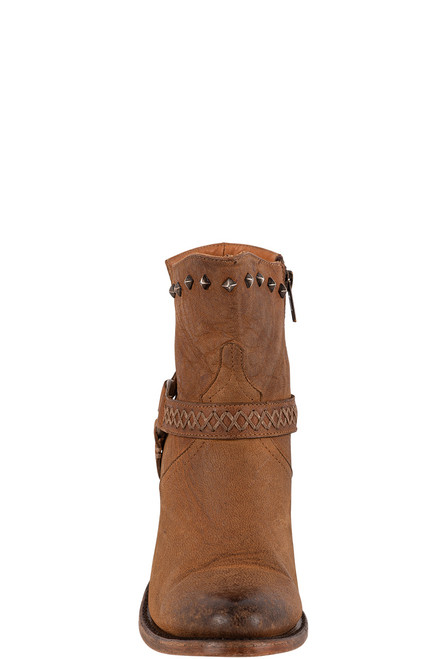 Lucchese Women's Ani Tan Cowhide Boots - Front