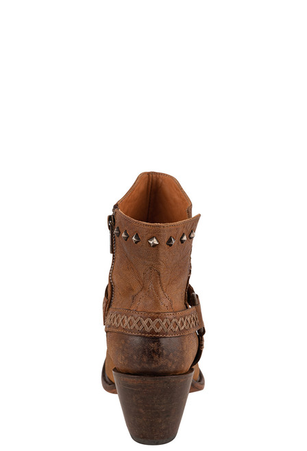 Lucchese Women's Ani Tan Cowhide Boots - Back