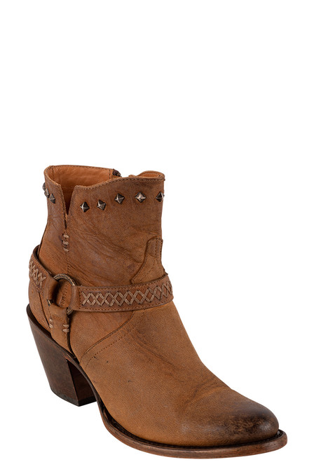 Lucchese Women's Ani Tan Cowhide Boots - Angle