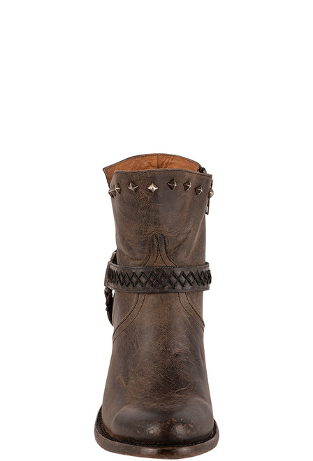 Lucchese Women's Ani Anthracite Cowhide Boots - Front