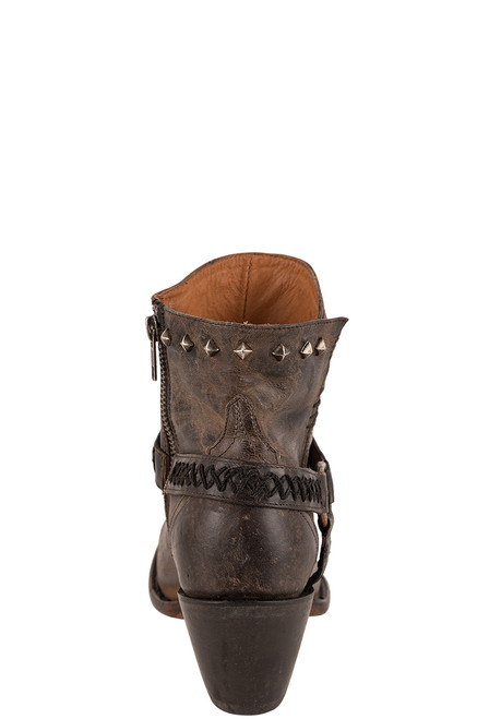 Lucchese Women's Ani Anthracite Cowhide Boots - Back