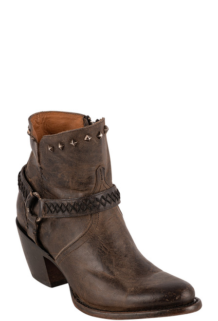 Lucchese Women's Ani Anthracite Cowhide Boots - Angle