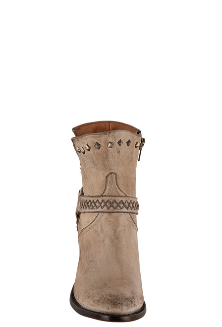 Lucchese Women's Ani White Cowhide Boots - Front