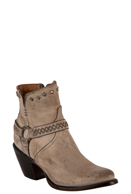 Lucchese Women's Ani White Cowhide Boots - Angle