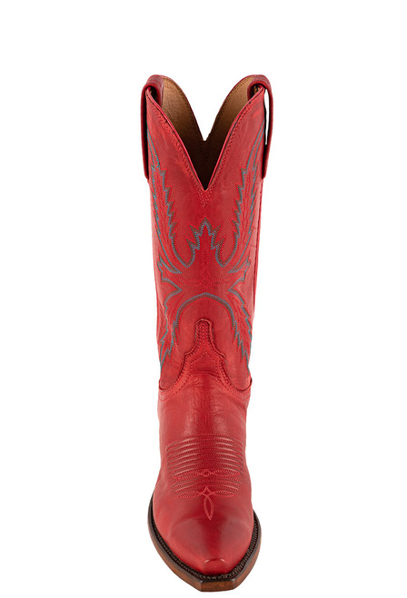 """Lucchese Women's Savannah 12"""" Red Goat Boots - Front"""