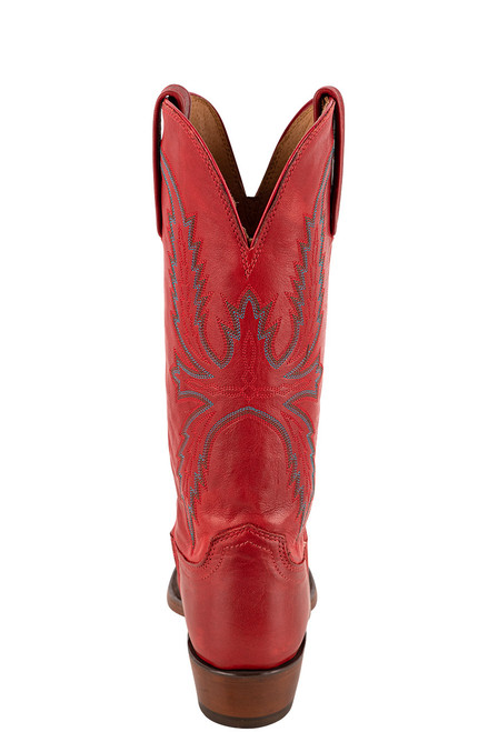 """Lucchese Women's Savannah 12"""" Red Goat Boots - back"""