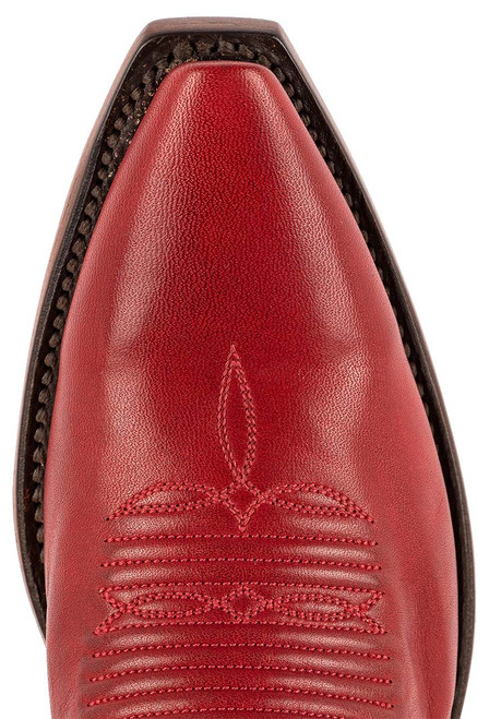 """Lucchese Women's Savannah 12"""" Red Goat Boots - Toe"""