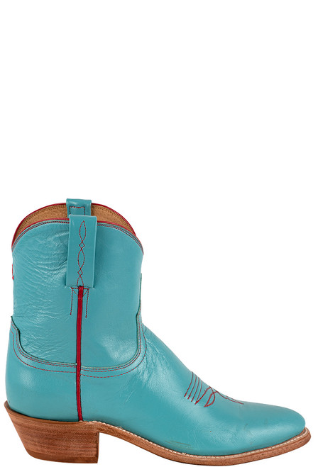 "Lucchese Women's Gaby 7"" Turquoise Goat Boots - Front"