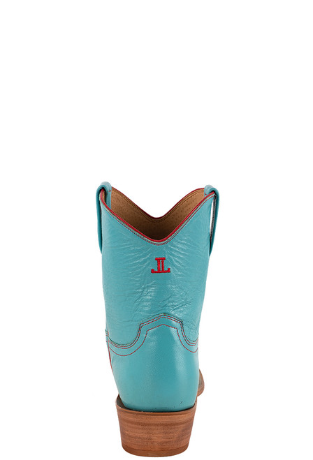 "Lucchese Women's Gaby 7"" Turquoise Goat Boots - back"