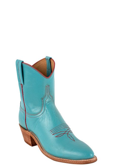 "Lucchese Women's Gaby 7"" Turquoise Goat Boots - Angle"