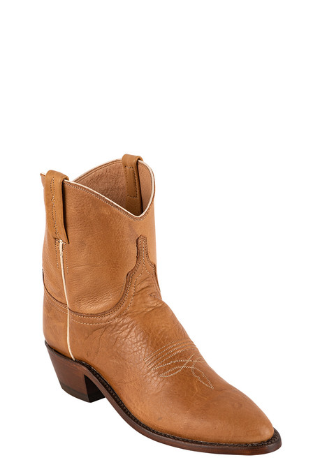 "Lucchese Women's Gaby 7"" Rust Goat Boots - Angle"