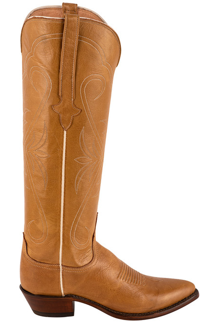 """Lucchese Women's Saltillo 17"""" Rust Cowhide Boots - Side"""