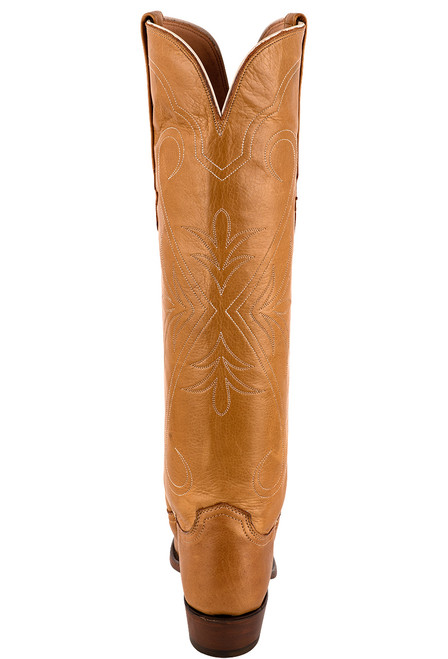 """Lucchese Women's Saltillo 17"""" Rust Cowhide Boots - Back"""