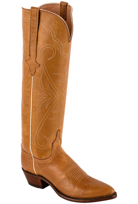 """Lucchese Women's Saltillo 17"""" Rust Cowhide Boots - Angle"""