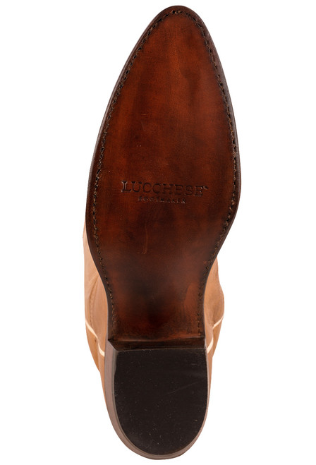 """Lucchese Women's Saltillo 17"""" Rust Cowhide Boots"""