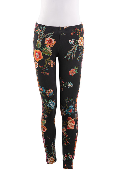 Johnny Was Stretch French Terry Leggings - Front