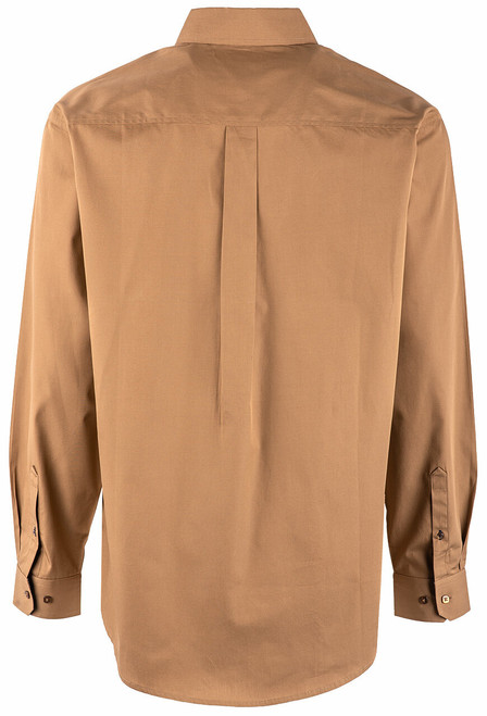 Cinch Solid Brown Plain Weave Shirt - Back