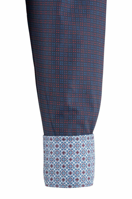 Pinto Ranch YY Collection Blue and Berry Cube Check Shirt