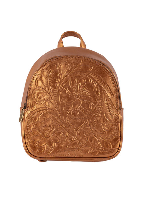 Hide and Chic Small Backpack - Copper Front