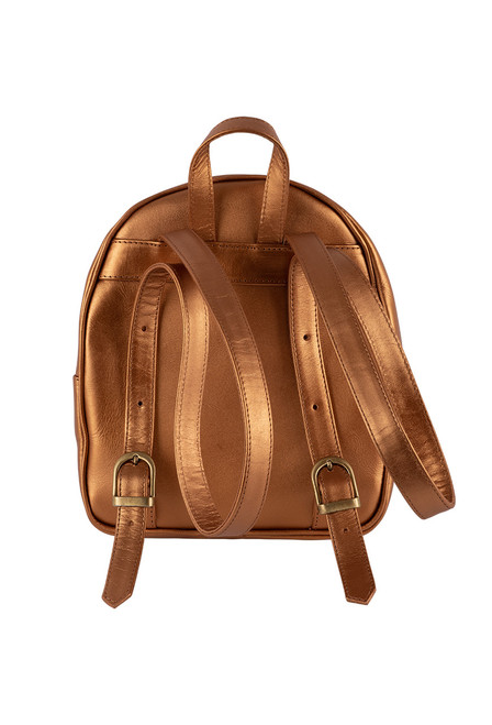 Hide and Chic Small Backpack - Copper Back