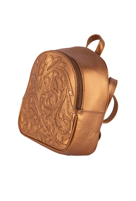 Hide and Chic Small Backpack - Copper Side